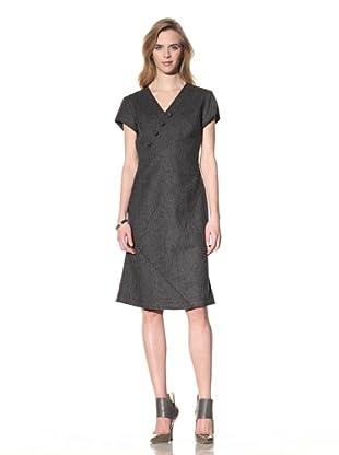 ALTUZARRA Women's Stretch Wool V-Neck Dress (Grey)