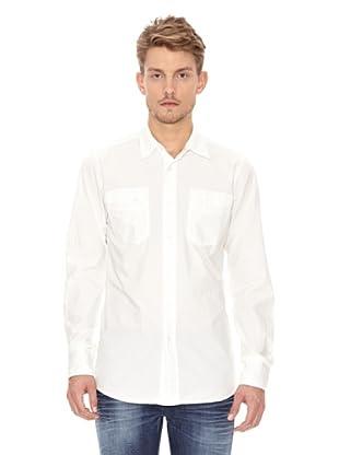 Nudie Jeans Camisa Bolsillos (Blanco)