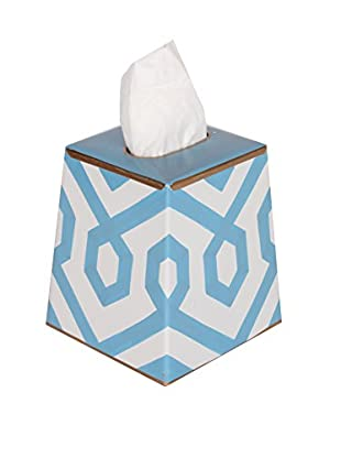 Jayes Madison Tissue Box Cover, Blue