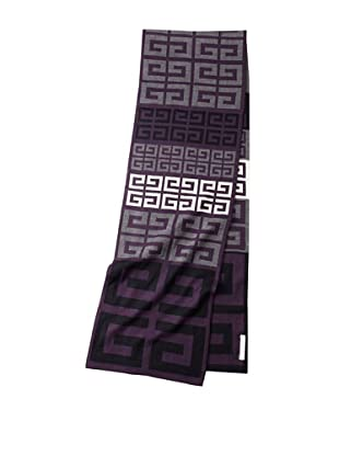 Givenchy Unisex Knit Logo Scarf, Purple/Grey