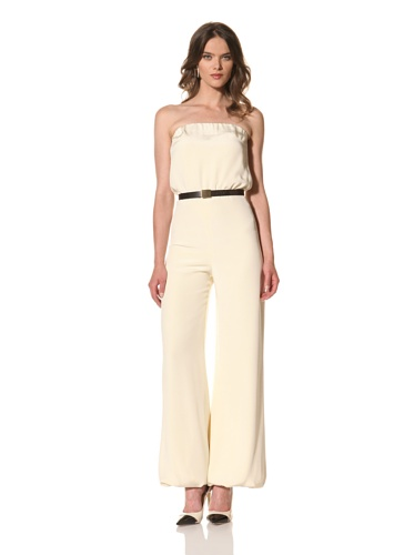 HOLMES AND YANG Women's Strapless Jumpsuit (Cream)