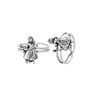 Voylla Silver Plated Toe Rings With Fabulous Design