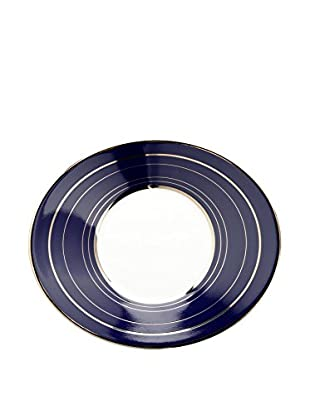 Guy DeGrenne Oval Forever Blue Boreal Breakfast Saucer, White/Blue