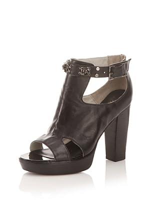Tuleste Market Women's Sabrina Platform Sandal (Black/Gunmetal)
