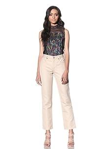 Chloé Women's Cotton Pant (Light Beige)