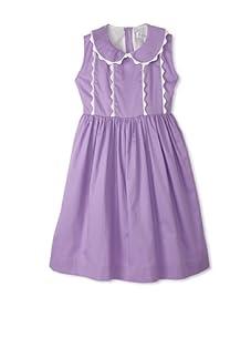 Rachel Riley Girl's Scalloped Dress (Lilac)