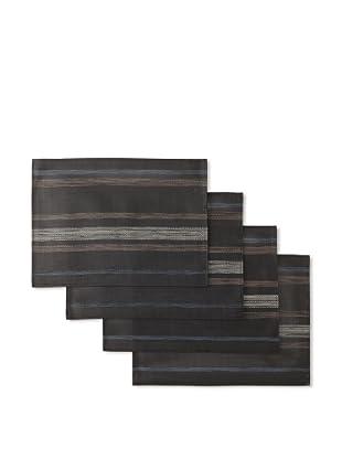 Winkler Set of 4 Paint Placemats (Black)