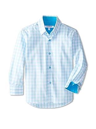 Isaac Mizrahi Boy's Gingham Woven Shirt