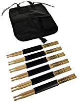 ChromaCast CC-5B-6-BAG 5B USA Hickory 6 Drumsticks Pairs with Bag