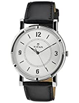 Titan White/Silver Dial Men's Analog Watch - 1639SL03