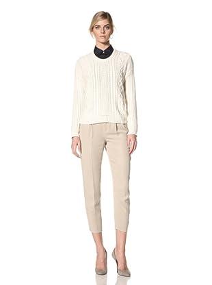 Acrobat Women's Fishermen Sweater (Cream)