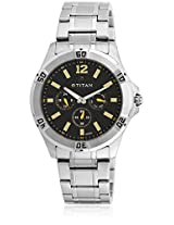 1622Sm01J Silver/Black Analog Watch