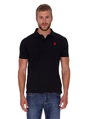 Polo Club Polo Custom Fit Escudo Liso (Negro)