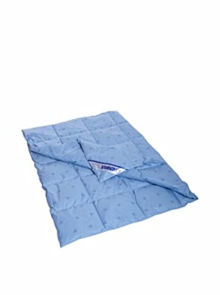 Irisette Dauneneinziehdecke blau/lilie 135x200cm (blau/lilie)