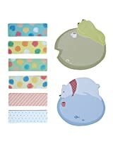 Very Cute And Nice Shaped Sticky Notes Set OF 2 (20 Pcs each) & Book Marks Set OF 6 (20 Pcs each) Lazy Bear