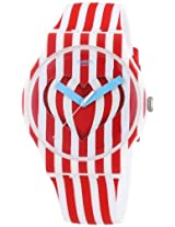 Swatch SUOZ168 Sweet Valentine White Red Analog Dial Silicone Women Watch