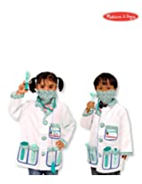 Melissa & Doug Doctor Costume Deluxe Role Play Set