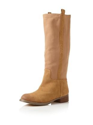 Matt Bernson Women's Roper Flat Long Boot (Camel)