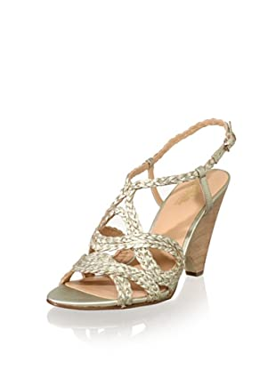 Belle by Sigerson Morrison Women's Aspen Wedge Sandal (Light Gold)