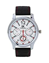 Iik Collection Analogue White Dial Men's Watch-Iik501M