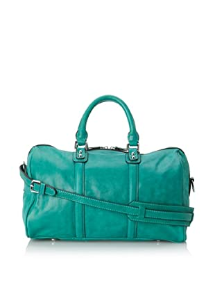 Chocolat Blu Women's Convertible Leather Satchel (Bright Emerald)