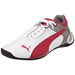 Puma Unisex Future Cat M2 Jr Shoes - White, Red and Grey