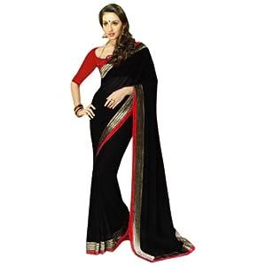 Dazzling Diva Black Embroidered Casual - Saree