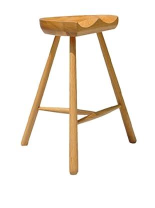 International Design USA Saddle Bar Stool, Natural Ash