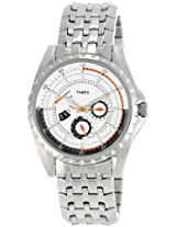Timex E Class Retrograde Analog White Dial Men's Watch - T2M431