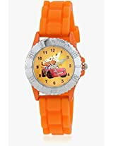 Cars Lp-1002 (Orange) Orange/Yellow Analog Watch Disney