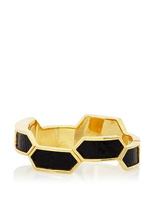 Kara Ross Black Hexagon Bracelet