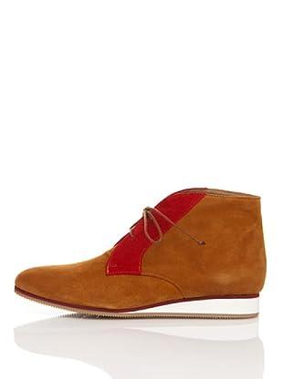 Flavio Menorca Botines Bicolor Cloe Ante (Rojo / Camel)