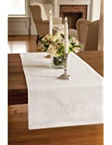 "Downton Abbey Table Runner (18"" X 66"") White From the Countess Collection"