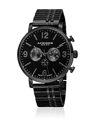 Akribos XXIV Uhr mit schweizer Quarzuhrwerk Man schwarz 46 mm