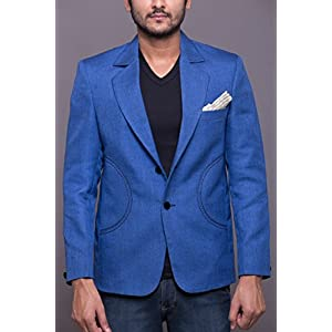 Azio Design Men's Blazer - Blue