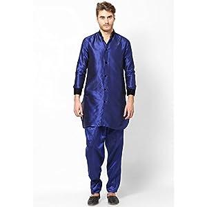 Varah Stylish Blue Pathani Kurta For Men