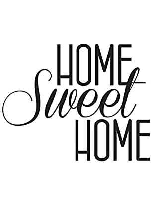 Ambiance Live Wandtattoo Home Sweet Home decal schwarz
