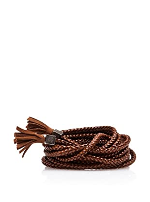 Caramelo Cinturón Borlas (Cuero)