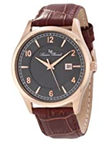 Lucien Piccard Men's 11581-RG-014 Weisshorn Grey Textured Dial Brown Leather Watch