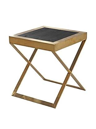 Armen Living Jasper Modern End Table, Black