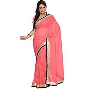Somya Chiffon Saree (031Dno111 _Pink)