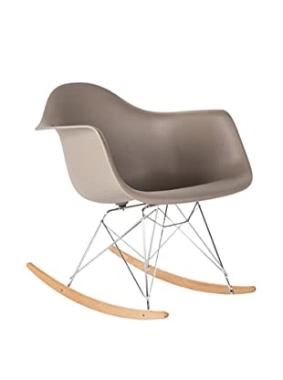 Control Brand Adult-Sized Mid-Century-Inspired Rocking Chair, Grey