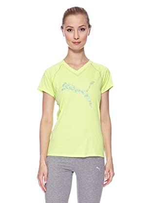 PUMA Laufshirt CR Graphic Logo Short Sleeve (sharp green)