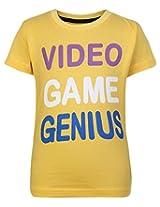SAPS Short Sleeves T Shirt Yellow - Video Game Genius Print