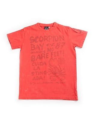 Scorpion Bay Camiseta Letras (Rojo)
