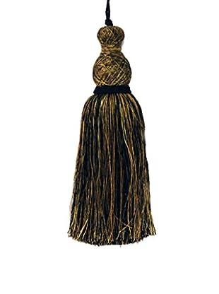 Winward Tassel Ornament, Black/Gold