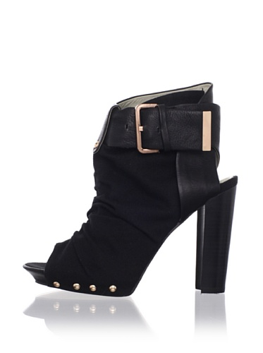 Mea Shadow Women's Sonia Bootie (Black Leather)