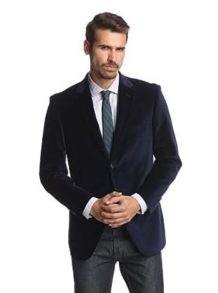 Cosani Collezioni Men's 2-Button Velvet Blazer (Blue)