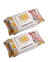 Alcohol Free Mee Mee Baby Wet Wipes (Pack of 2)