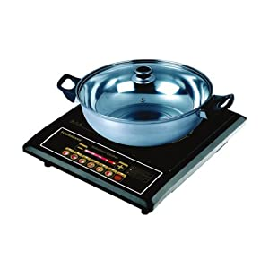 Sowbaghya Sleek Plus Induction Stove with Pot
